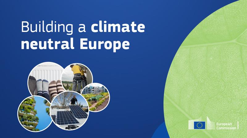 Ilustración neutralidad climática en Europa
