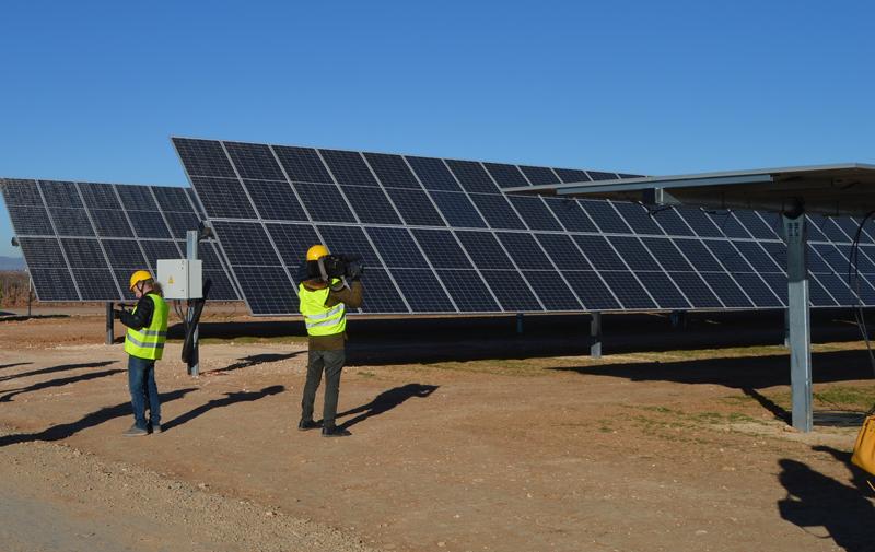 Plantas fotovoltaicas en Castilla-La Mancha.