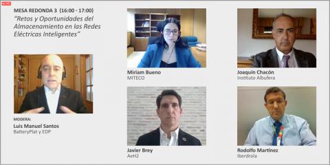 Mesa redonda: Retos y Oportunidades del Almacenamiento en las Redes Eléctricas Inteligentes