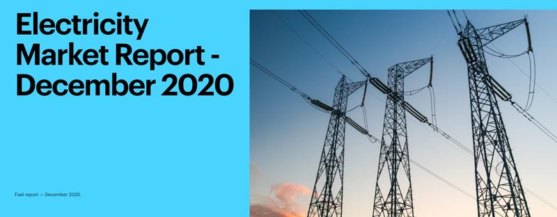 informe demanda eléctrica mundial de diciembre de 2020 de la IEA
