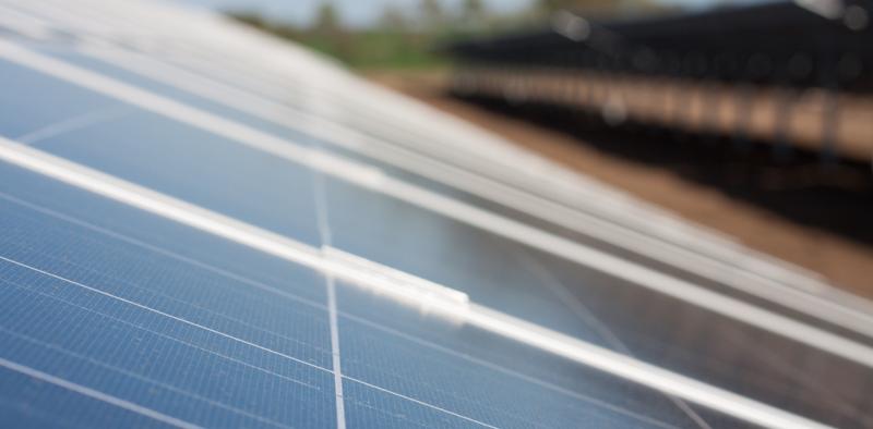 Placas fotovoltaicas.