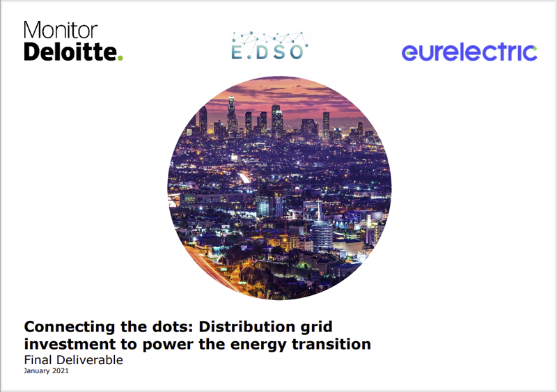 Portada del estudio estudio 'Connecting the dots. Distribution grid investment to power the energy transition'