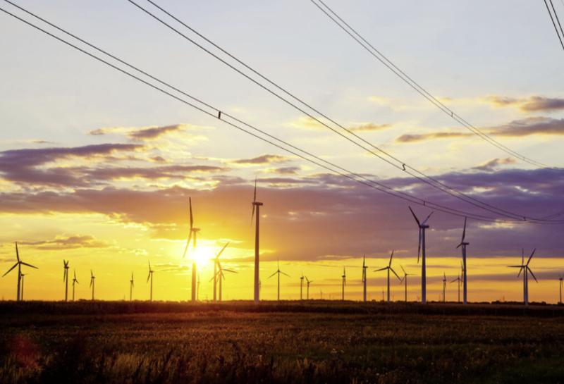 energía eólica y tendido red eléctrica