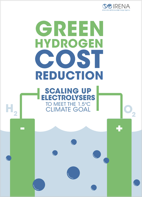 Informe 'Green Hydrogen Cost Reduction: scaling up electrolysers to meet the 1.5 °C climate goal'