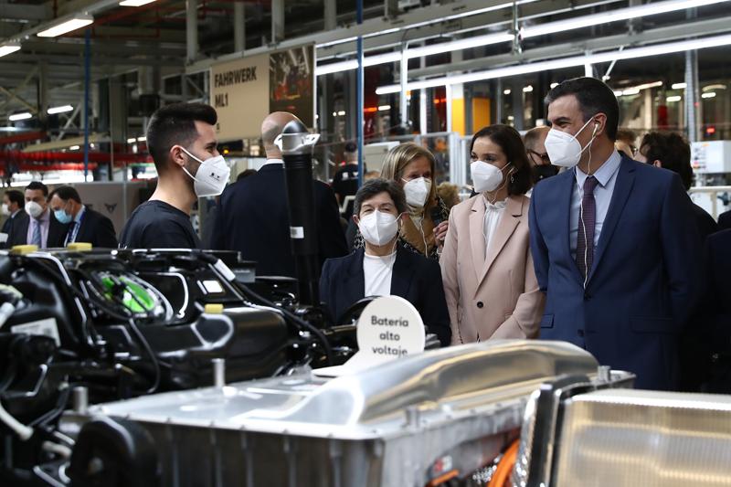 Visita del Gobierno a la planta de SEAT en Martorell