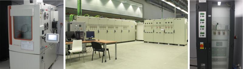 microrred de Tecnalia (izquierda) y equipos de ensayo de celdas de CIDETEC (derecha)