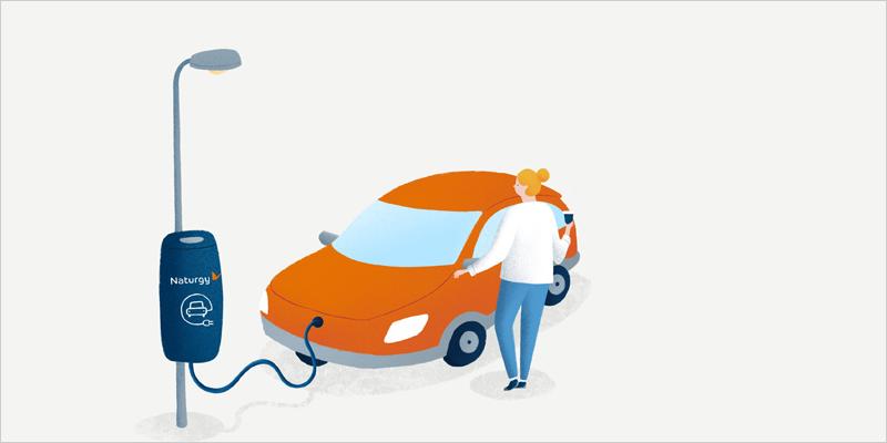 Recarga vehículo eléctrico Naturgy