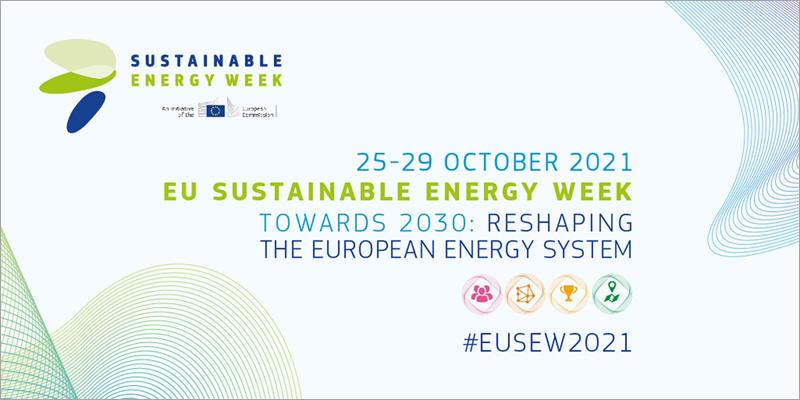 La Semana de la Energía Sostenible de la UE 2021 se celebrará del 25 al 29 de octubre