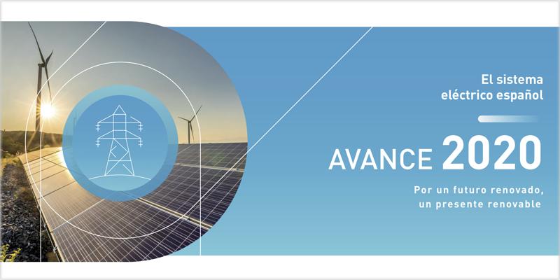 Avance 2020 del sistema eléctrico español