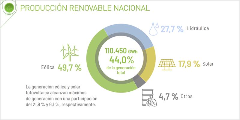 Producción renovable nacional
