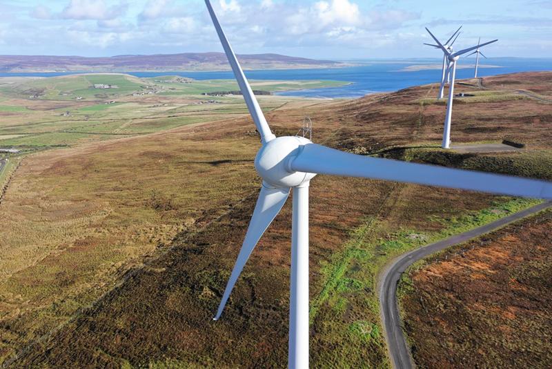 Energía eólica en Orkney