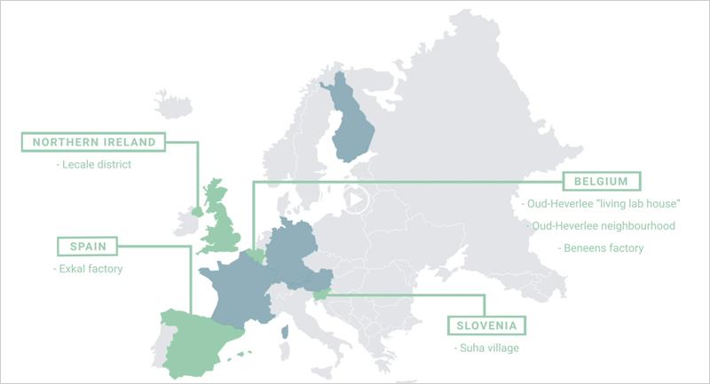Mapa con la ubicación con los casos de demostración