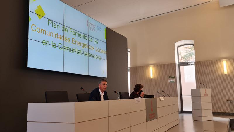 Acto de presentación del Plan de Fomento de las Comunidades Energéticas Locales.