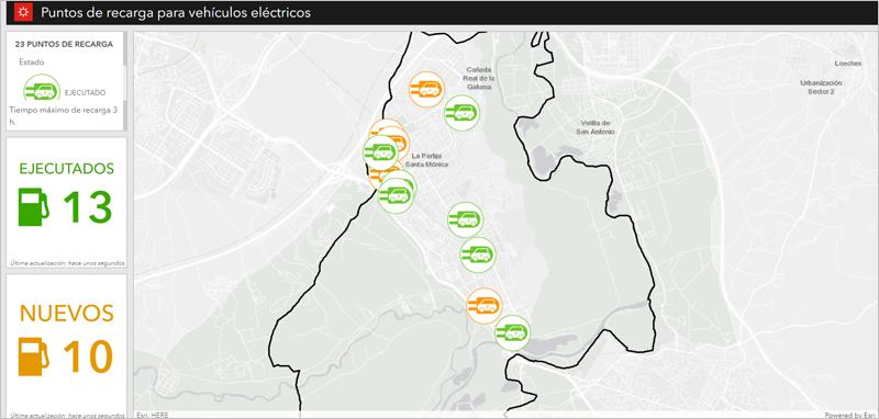 mapa de puntos de recarga en Rivas Vaciamadrid