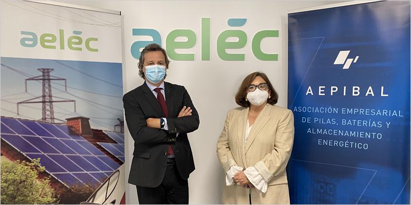 Marina Serrano, presidenta de aelēc, y Luis Marquina, presidente de Aepibal,