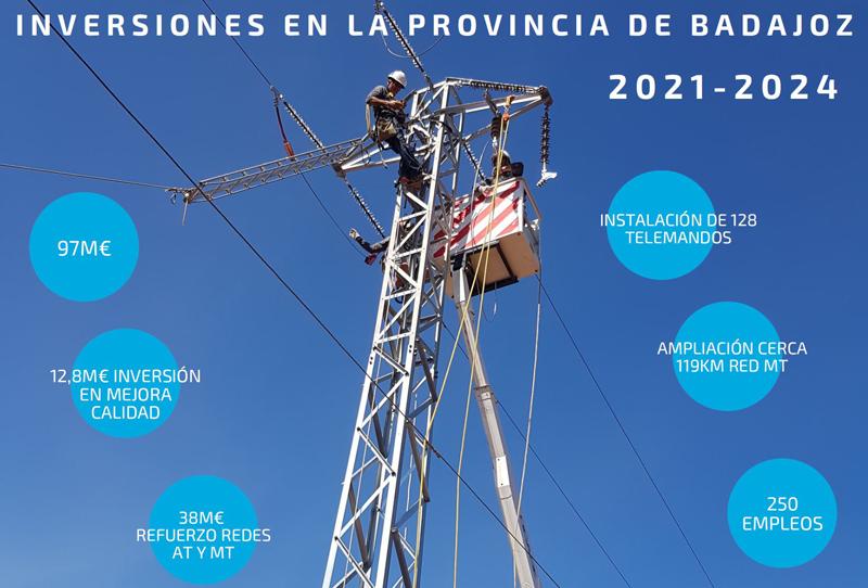 plan de inversión de Endesa en la provincia de Badajoz
