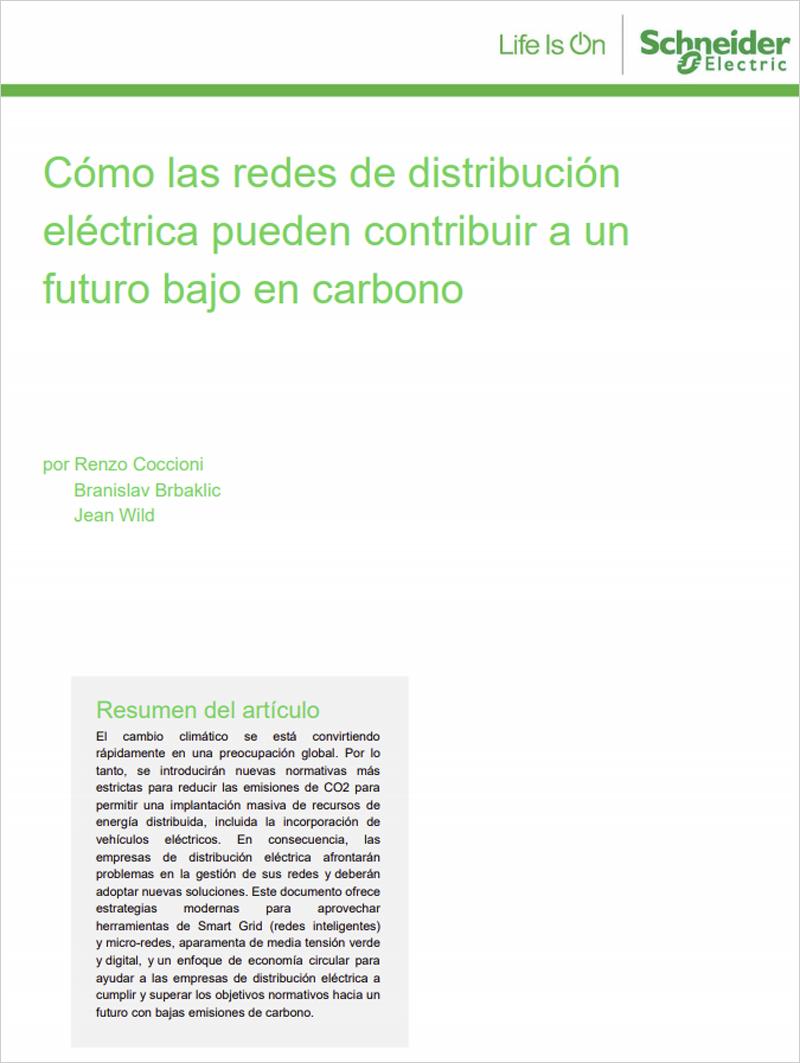 Portada Cómo las Redes de Distribución Eléctrica pueden contribuir a un futuro bajo en carbono