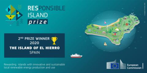 La isla de El Hierro, galardonada en el RESponsible Island Prize por sus niveles alcanzados de generación anual con renovables