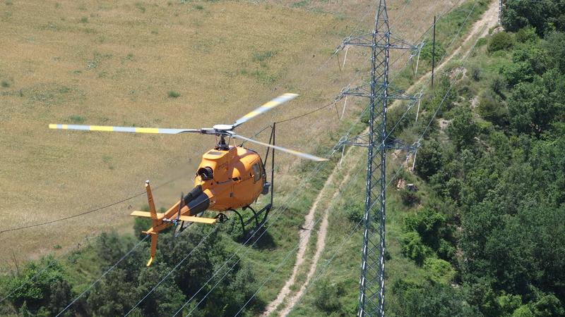 Helicóptero de Endesa.