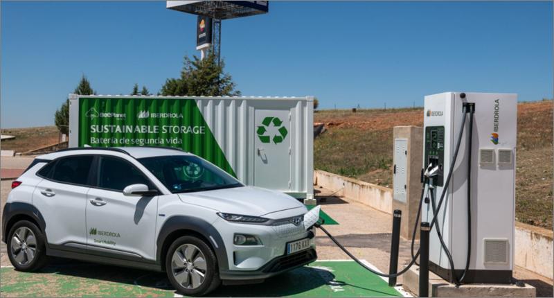 Instalan sistema de recarga de vehículos eléctricos a partir de baterías de segunda vida.