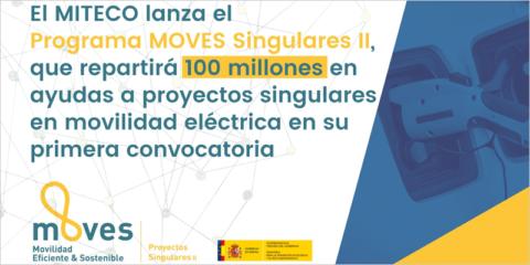 Moves Singulares II, nuevo paquete de ayudas con 100 millones para la innovación en movilidad eléctrica