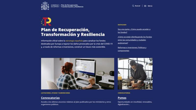 Web Planderecuperacion.gob.es