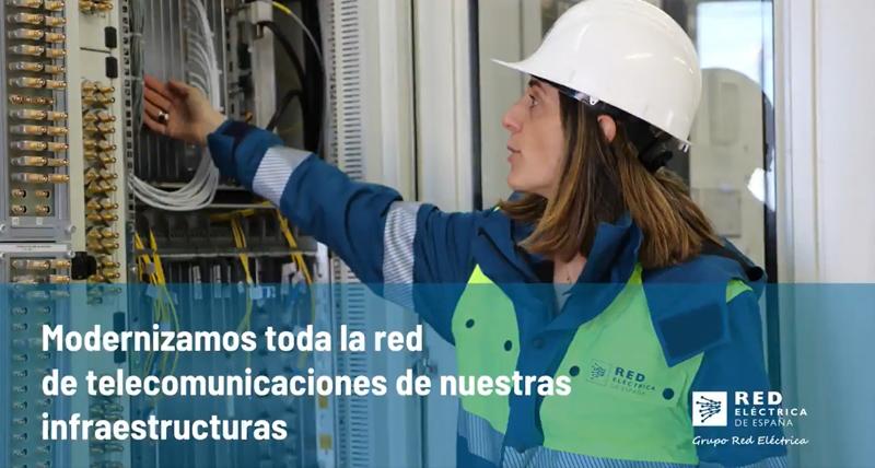 Trabajadora de Red Eléctrica de España