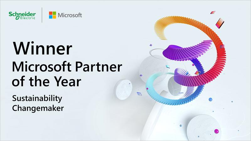 Schneider Electric es reconocida como Partner del Año 2021 de Microsoft en materia de sostenibilidad