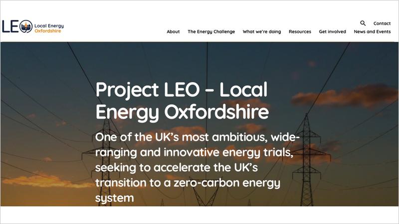 Web Local Energy Oxfordshire (LEO)