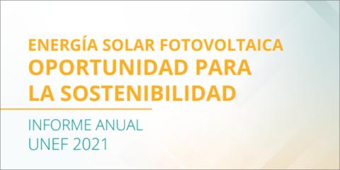 La huella económica total del sector fotovoltaico en España creció un 7% en 2020, según datos de UNEF
