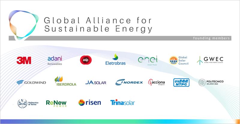 Logos de los miembros de la Alianza Global para la Energía Sostenible