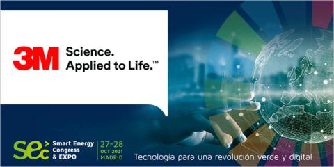 La compañía 3M participará como expositor y ponente en Smart Energy Congress & Expo 2021 en Madrid