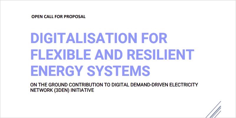 Convocatoria de proyectos piloto de digitalización para sistemas energéticos flexibles y resilientes