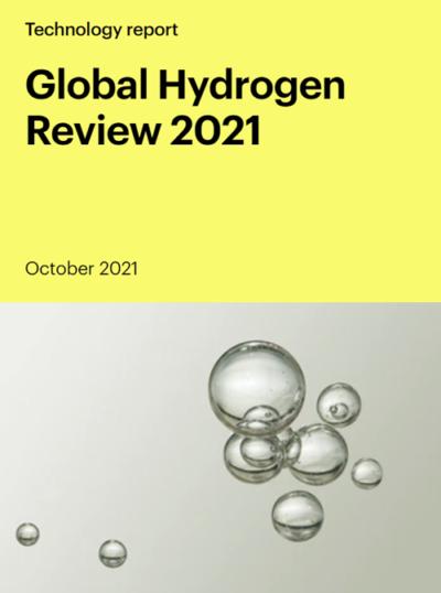 Portada del informe 'Global Hydrogen Review 2021'