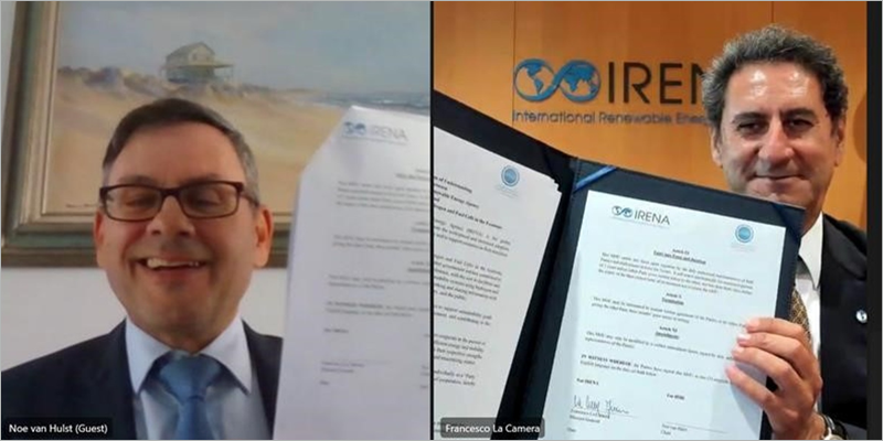 IRENA e IPHE acuerdan trabajar en estrecha colaboración en el rápido crecimiento de las implementaciones y el uso del hidrógeno a nivel mundial.