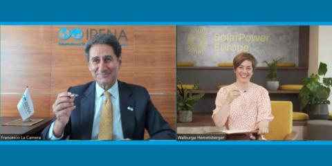 Acuerdo de colaboración entre Irena y SolarPower Europe para impulsar el despliegue de la energía solar